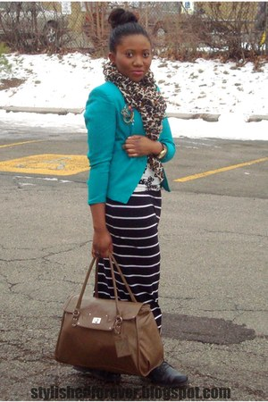 blazer - H&M scarf - Aldo watch - Forever 21 skirt
