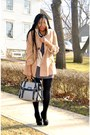 Caramel-coat-houndstooth-purse