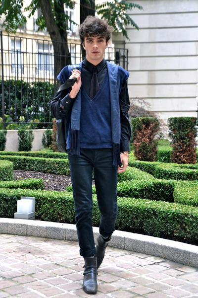 Cheap Monday jeans - sponge Jil Sander sweater - Dolce & Gabbana shirt