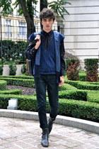 Cheap Monday jeans - sponge Jil Sander sweater - Dolce & Gabbana shirt