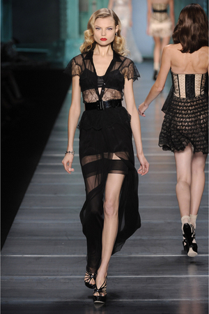 black christian dior dress