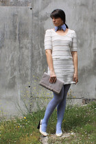 H&M tights - BLANCO dress - Uterqe purse - Sugar Lane necklace - Mango pumps