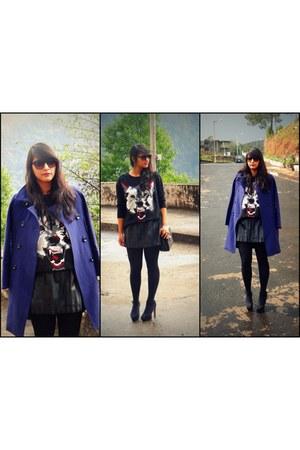 Zara sweater - Zara sunglasses - Vero Moda skirt - Zara heels