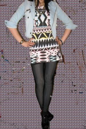 H&M jacket - Topshop t-shirt - H&M leggings - H&M shoes