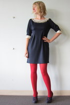 ModClothcom dress - ModClothcom tights - seychelles heels