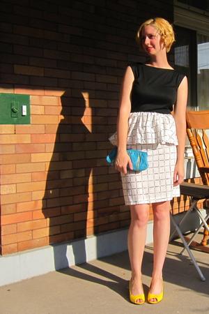 vintage dress - vintage purse - ModClothcom shoes