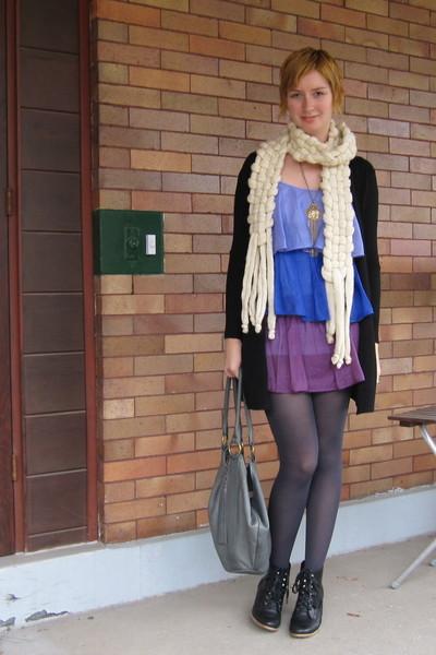 ModClothcom dress - scarf - ModClothcom tights - Helena de Natalio purse - Jeffr