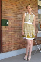 yellow ModClothcom dress - brown Pink Studio shoes - yellow Topshop accessories