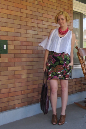 Rojas blouse - Rojas skirt - vintage necklace - Jeffrey Campbell shoes - Helena