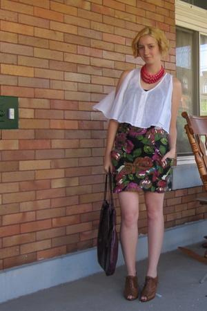 Rojas blouse - Rojas skirt - vintage necklace - Jeffrey Campbell shoes - Helena