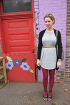 ModClothcom dress - ModClothcom tights - Top Shop shoes - vintage belt