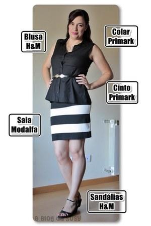 H&M blouse - Primark belt - Modalfa skirt - H&M sandals - Primark necklace