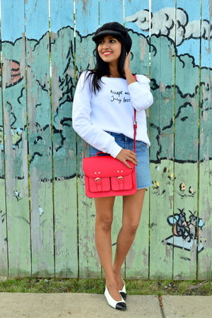 red satchel H&M bag
