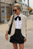 black all tied up H&M blouse