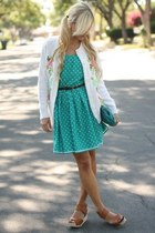 turquoise blue DIY dress