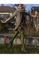 olive green unknown tights - olive green Gate shoes - olive green next dress
