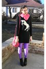 Black-h-m-shoes-black-fishbone-coat-black-with-unicorn-f-f-sweater-amethys