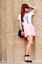 Zara heels - Chanel bag - Prada glasses - Aldo ring - Zara skirt