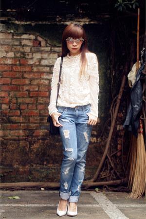 Zara blouse - H&M jeans - Zara heels