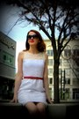 Red-target-heels-white-the-limited-dress-black-banana-republic-sunglasses