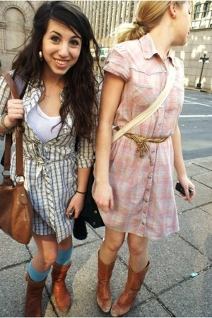t-shirt - socks - boots - lux uo dress