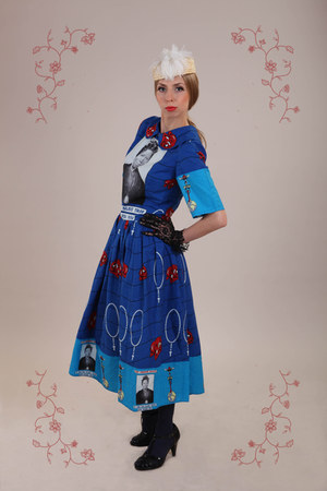 Beata Guzinska dress - Catarzi Exclusive to Asos hat - vintage gloves