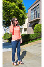 Orange-old-navy-sweater-blue-j-brand-jeans-black-lucky-brand-sandals