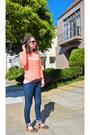 Orange-old-navy-sweater-blue-j-brand-jeans-black-lucky-brand-sandals