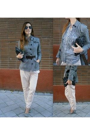Zara bag - Burberry jacket - hoss intropia shirt - Zara heels - Zara pants
