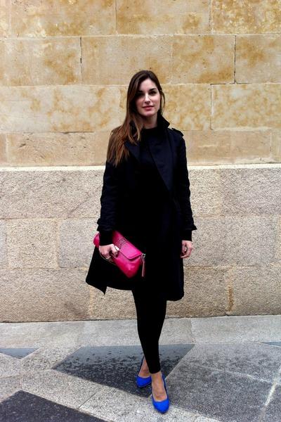 Zara shoes - Zara coat - Zara leggings - Purificacion Garcia top