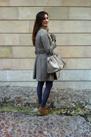 Bimba y Lola bag - Mustang boots - purificacin garca coat - amitie scarf