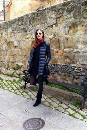 Zara boots - Zara dress - Mango coat - rayban sunglasses