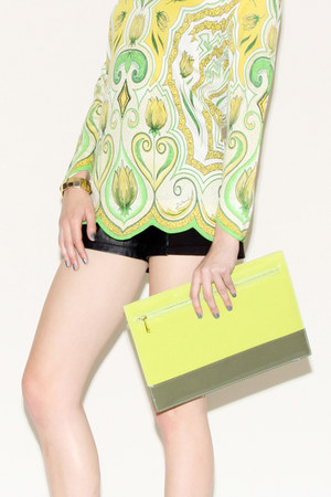 neon clutch Thrifted & Modern bag
