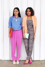 Light-orange-h-m-trend-blazer-pyjamas-la-senza-bodysuit-denim-topshop-blouse
