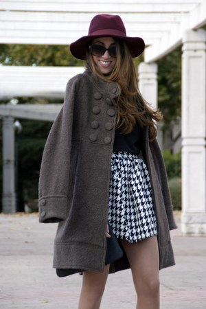 Zara coat - Primark hat - Choies skirt