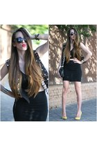 Front Row Shop top - Zara heels - Lefties vest