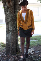 brown My Fathers closet sweater - black Forever 21 skirt - gray We Love Colors s