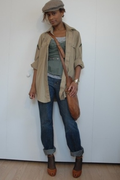 thrifted shirt - The Limited jeans - Forever21 top - Coccinelle purse