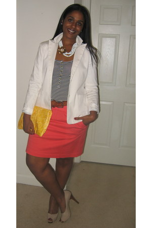 JCrew shirt - Boden skirt - Nine West pumps
