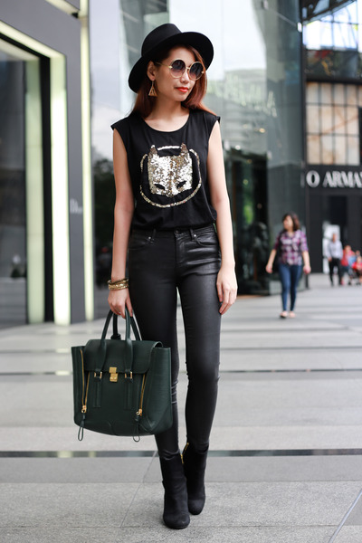 31 Phillip Lim bag - Topshop jeans - sequin batman Zara top