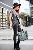 Zara hat - Topshop jeans - Zara top