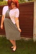 Topshop dress - Newlook shoes - Matalan cardigan - Topshop necklace