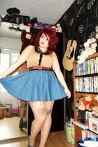 denim H&M skirt - Miss Selfridge blouse