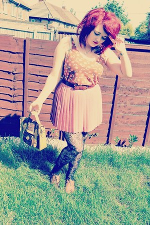 H&M skirt - Primark bag - Topshop top