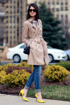 banana republic coat - Juicy Couture jeans - Prada sunglasses - Gucci pumps
