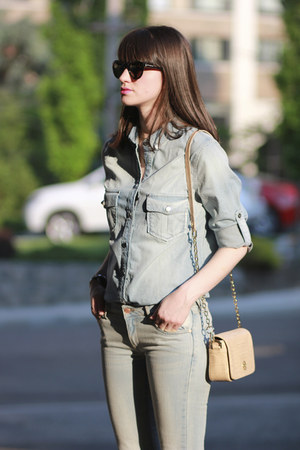 Mango jeans - Zara shoes - Mango shirt - tory burch bag