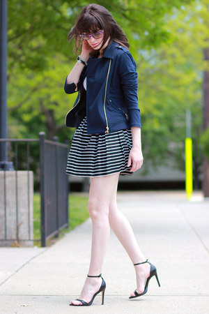 C Wonder jacket - ray-ban sunglasses - Aqua skirt - Zara heels