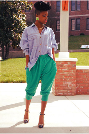 chartreuse thrift pants