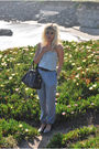 Silver-j-crew-top-silver-uniqlo-pants-brown-marc-by-marc-jacobs-accessories-