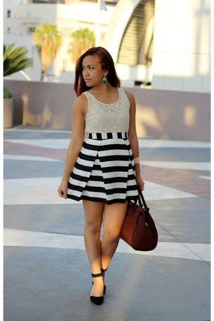 Forever 21 skirt - JustFab bag - asos heels